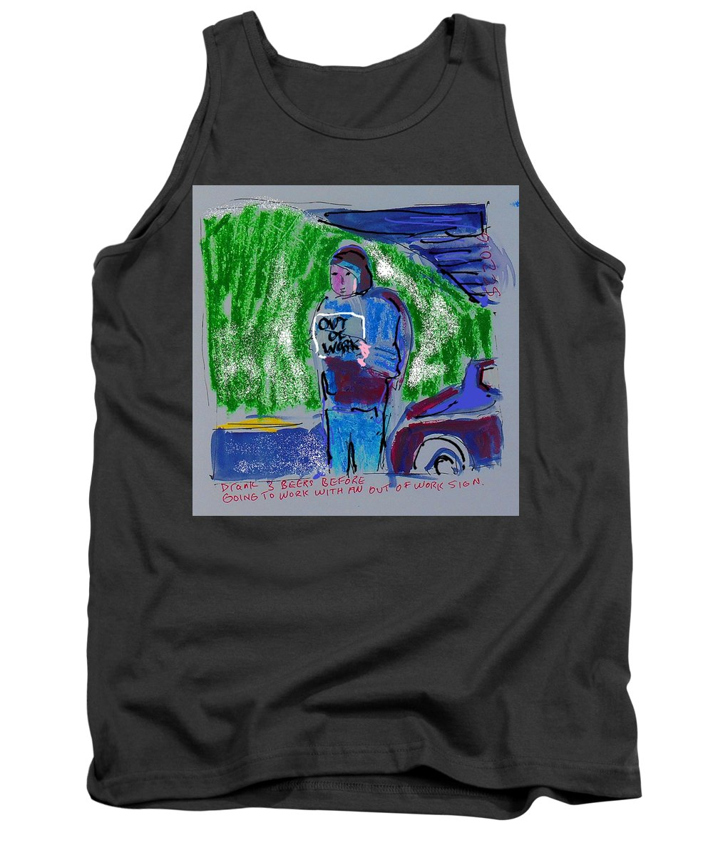 Street People Tank Top featuring the painting Streetdrunk by Samuel Zylstra