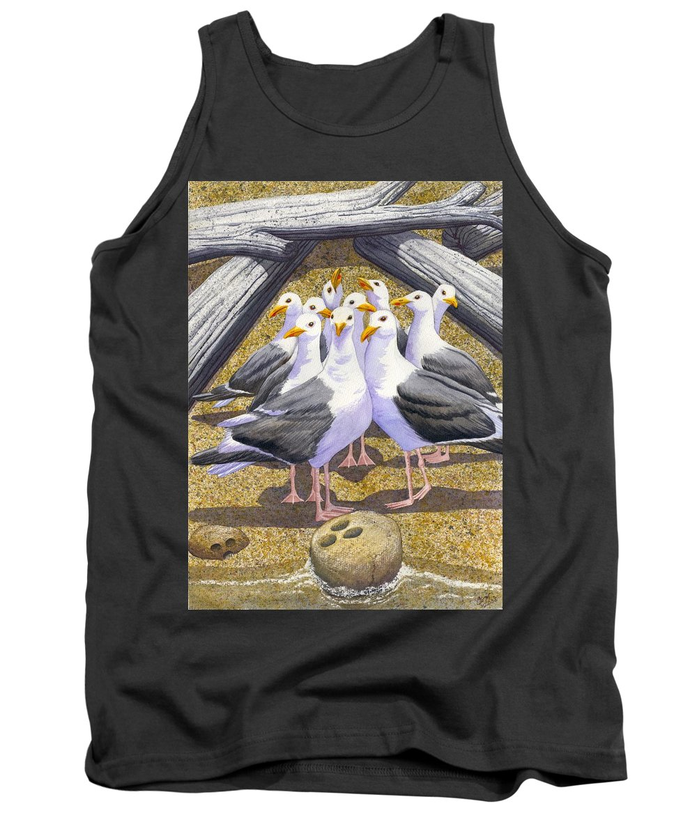 Beach Tank Top featuring the painting Strike by Catherine G McElroy