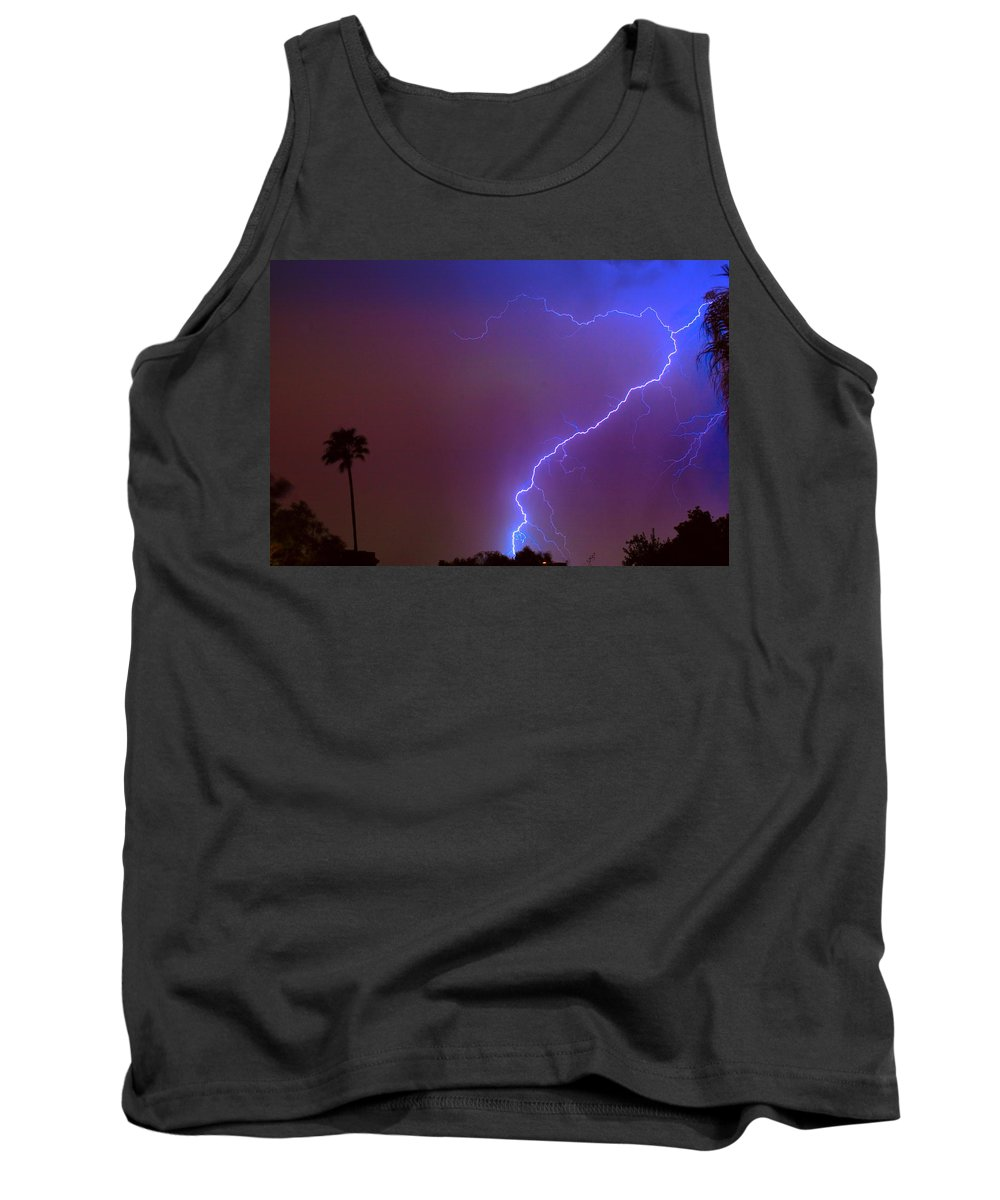 Lightning Tank Top featuring the photograph Striking Out by James BO Insogna
