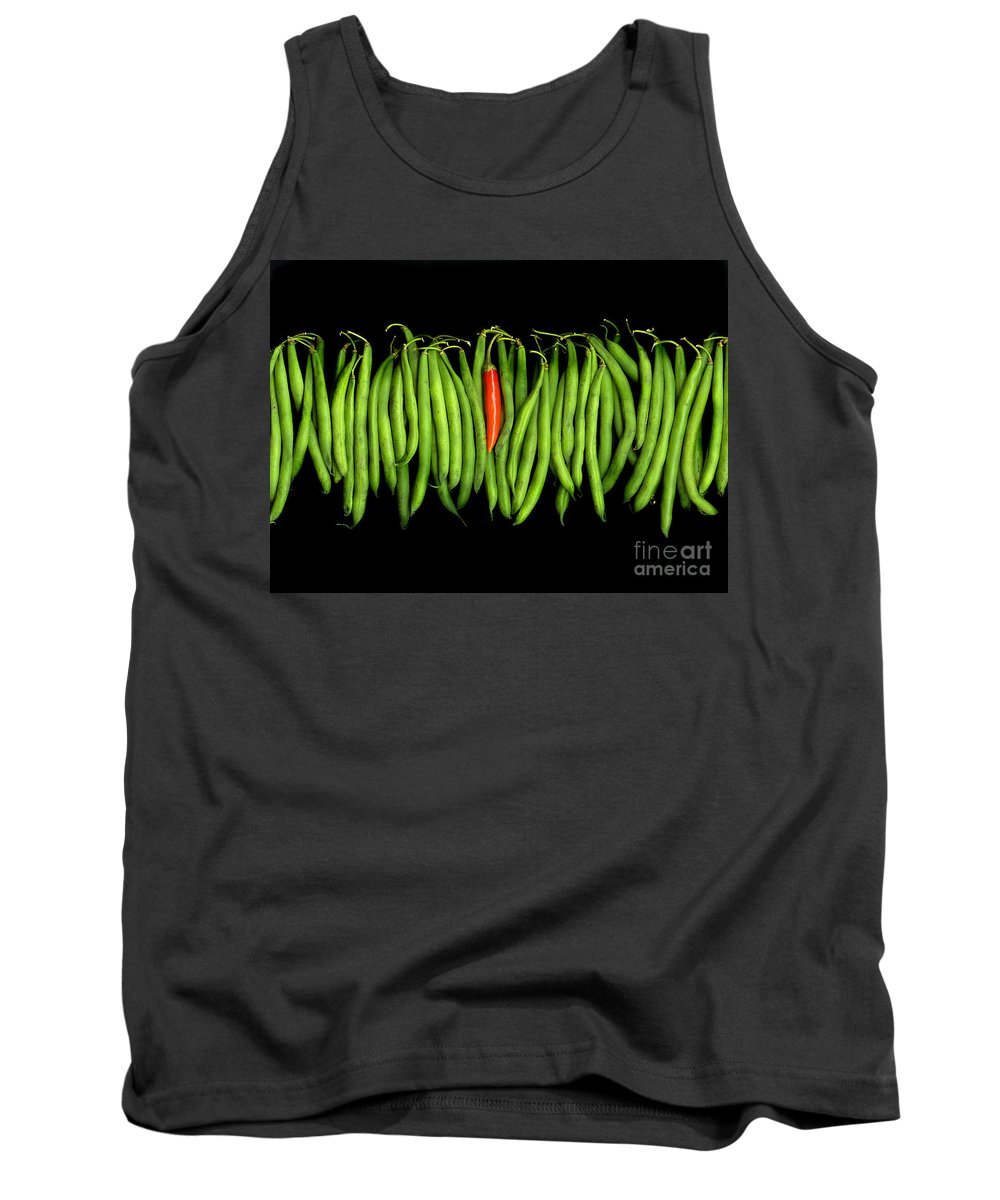 Culinary Tank Top featuring the photograph Stringbeans And Chilli by Christian Slanec
