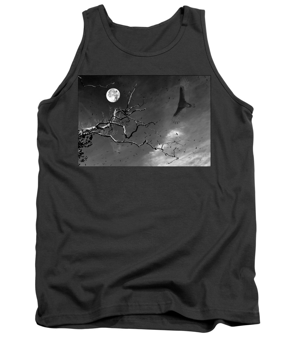Photoshop Tank Top featuring the photograph Stroke Of Midnight by Jenny Gandert