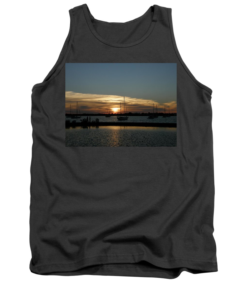 Sun Tank Top featuring the photograph Strolling In The Sunset by Kimberly Mohlenhoff