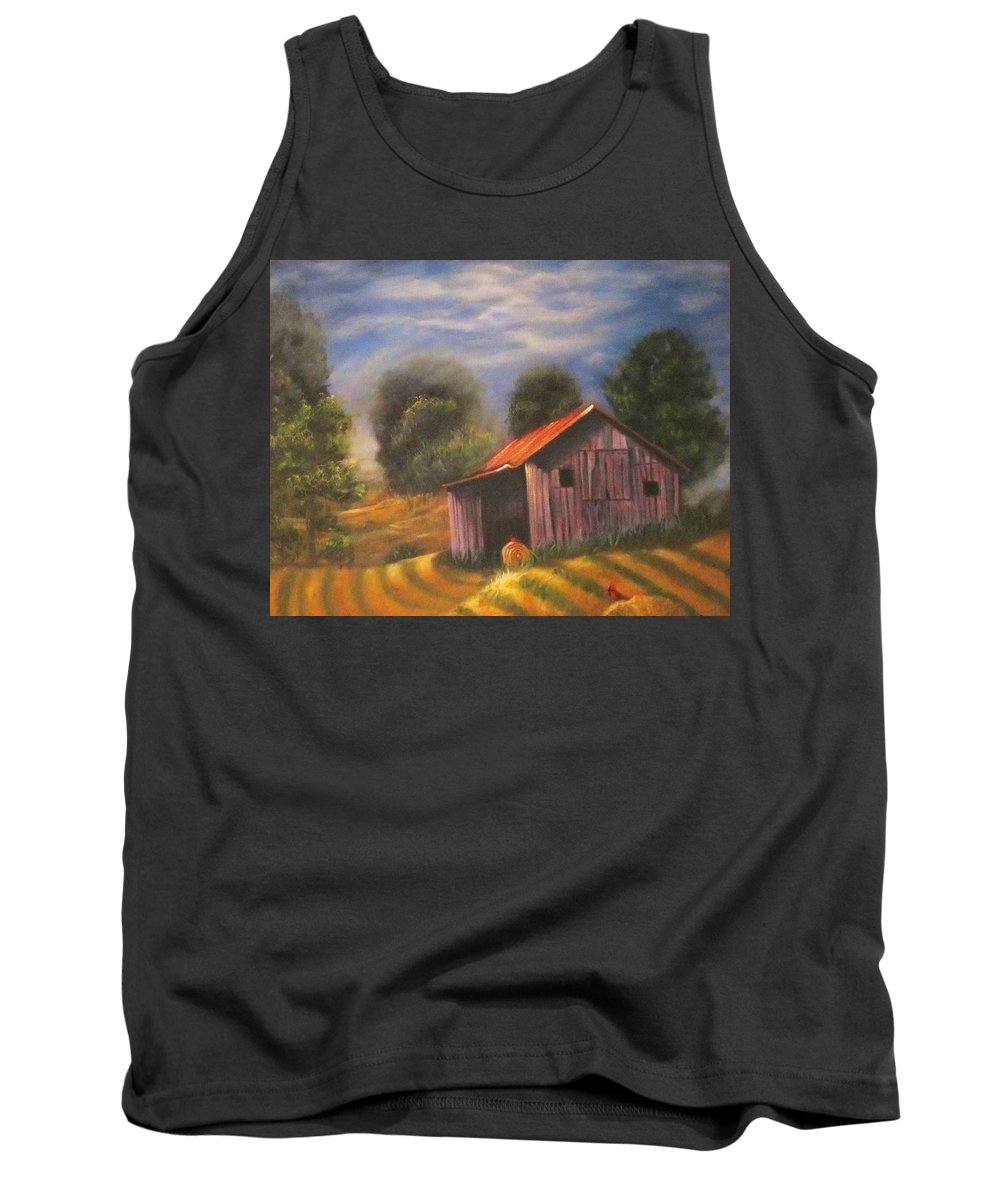 Landscape Tank Top featuring the painting Strong Hollow, Va by Sherry Strong