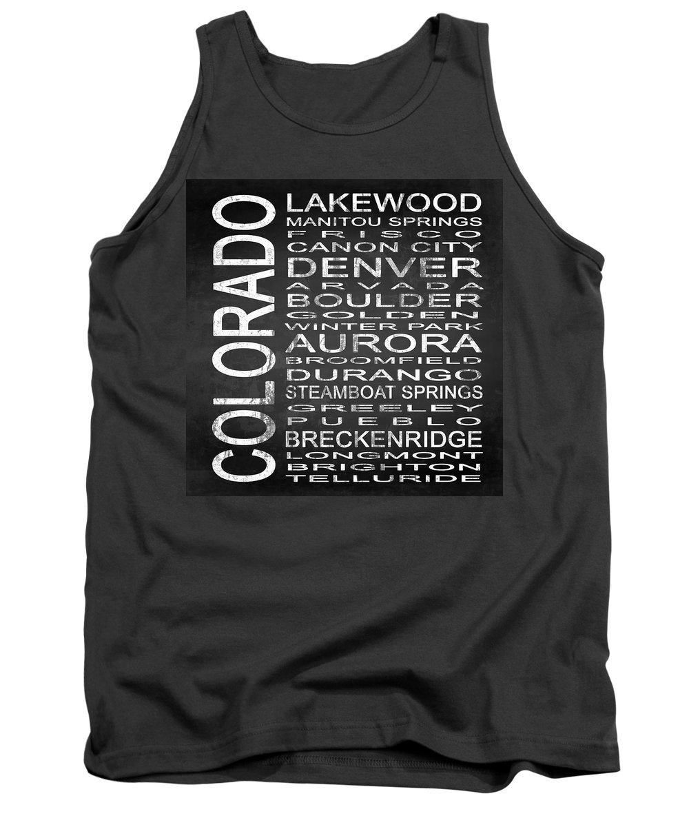 Subway Sign Tank Top featuring the digital art Subway Colorado State Square by Melissa Smith
