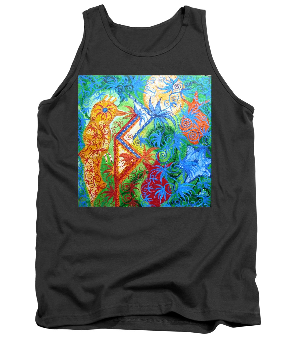 Runes Tank Top featuring the painting Success From Project by Joanna Pilatowicz