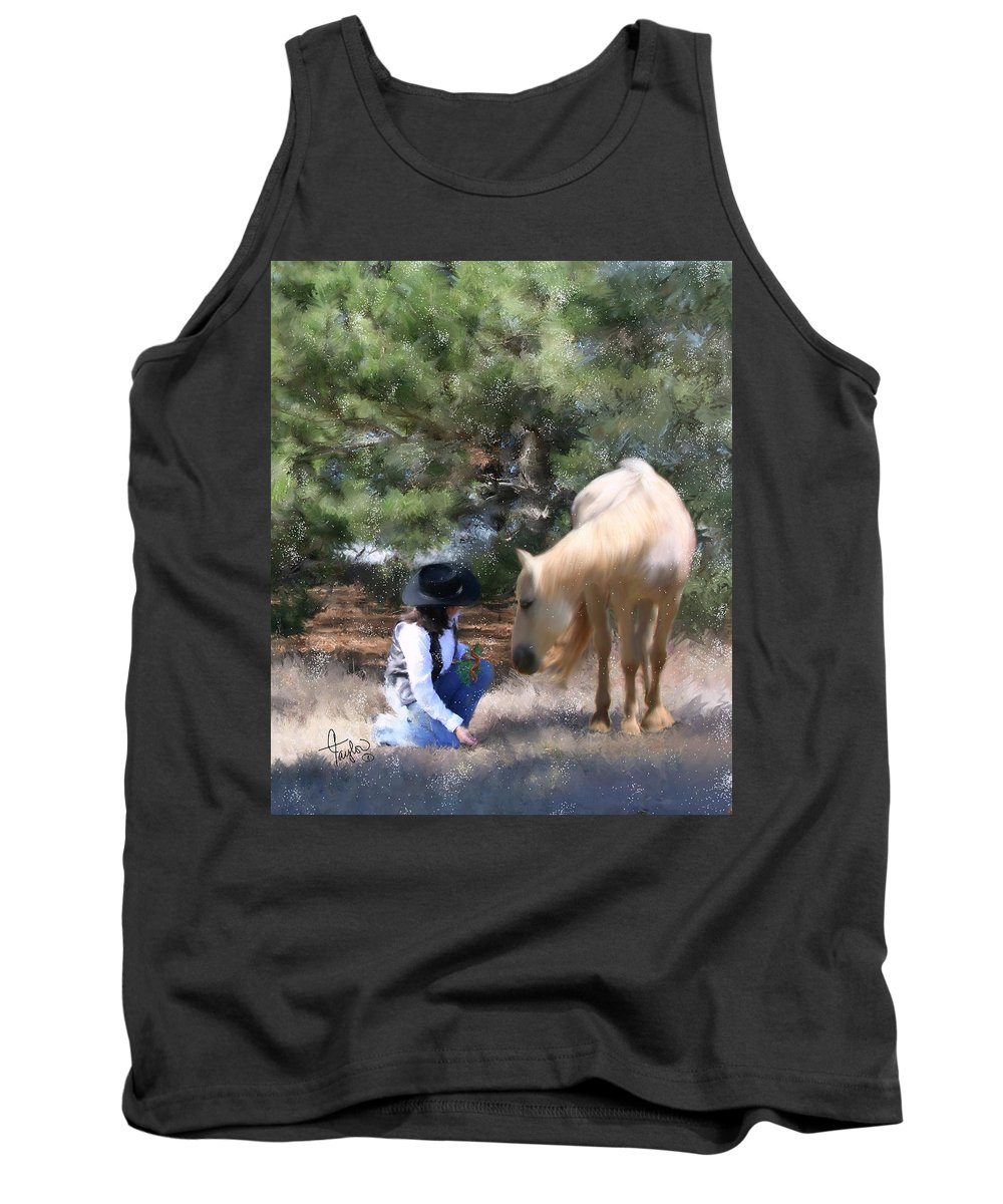 Cowgirl Tank Top featuring the painting Sugar N Spice by Colleen Taylor