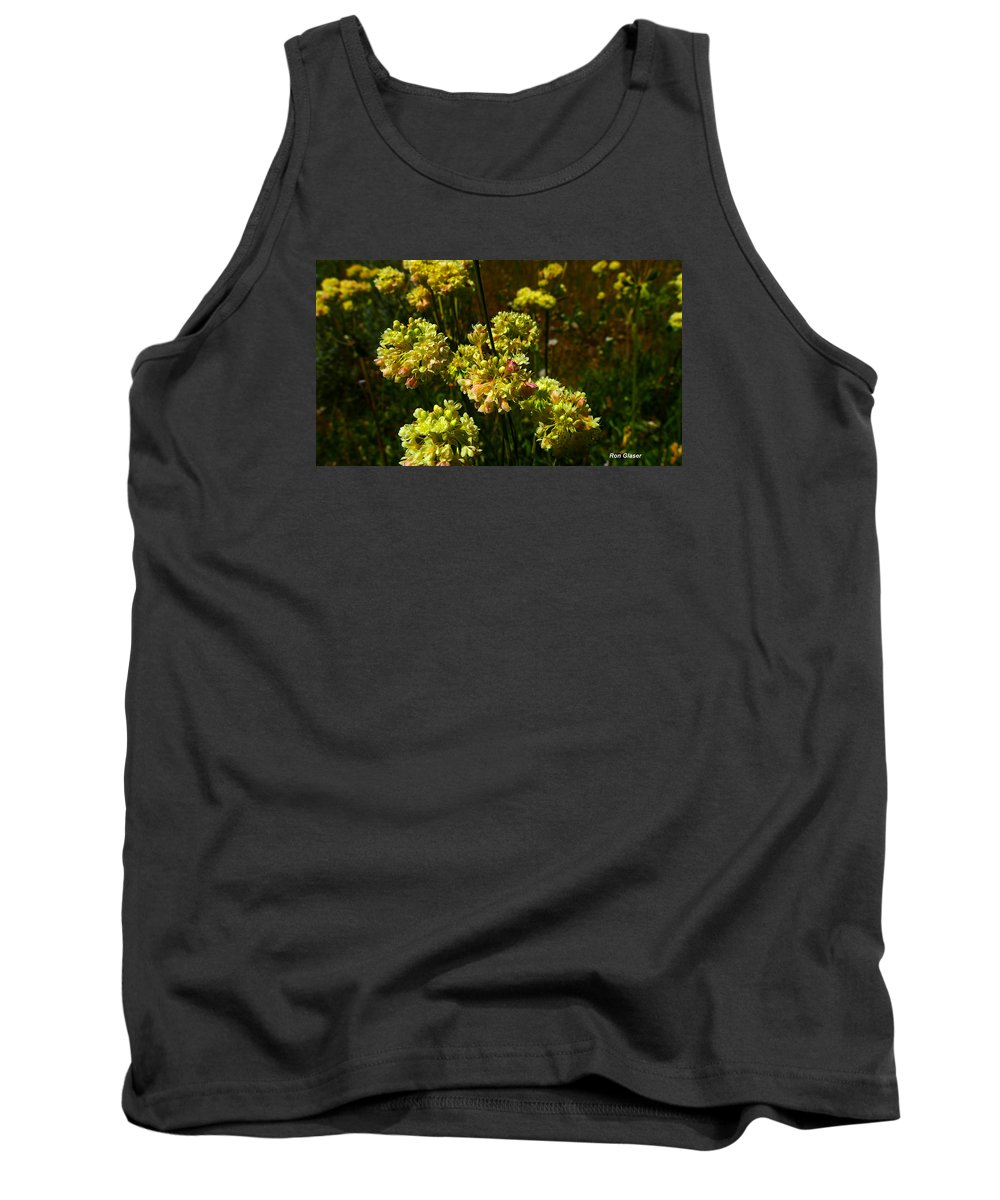 Ron Glaser Tank Top featuring the photograph Sulfur Flower by Ron Glaser