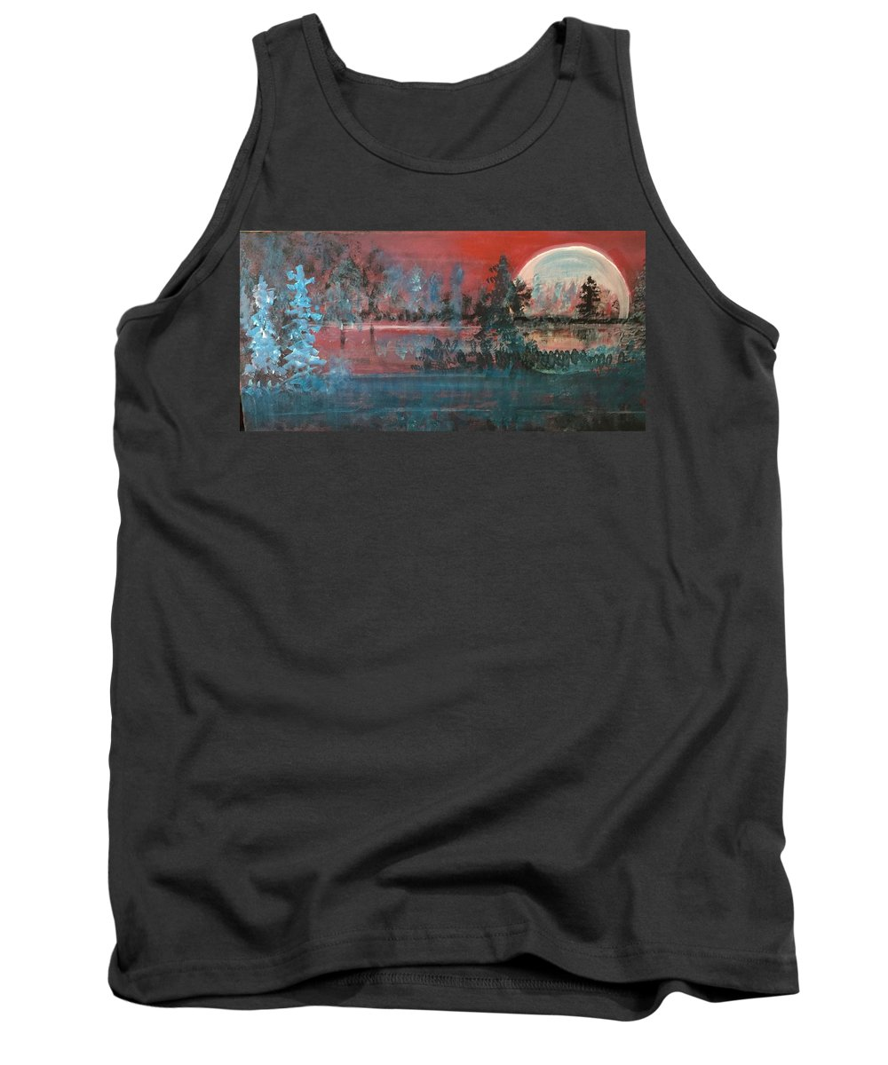 Sunsets Tank Top featuring the mixed media Sultry Sunset by Walter M Davis
