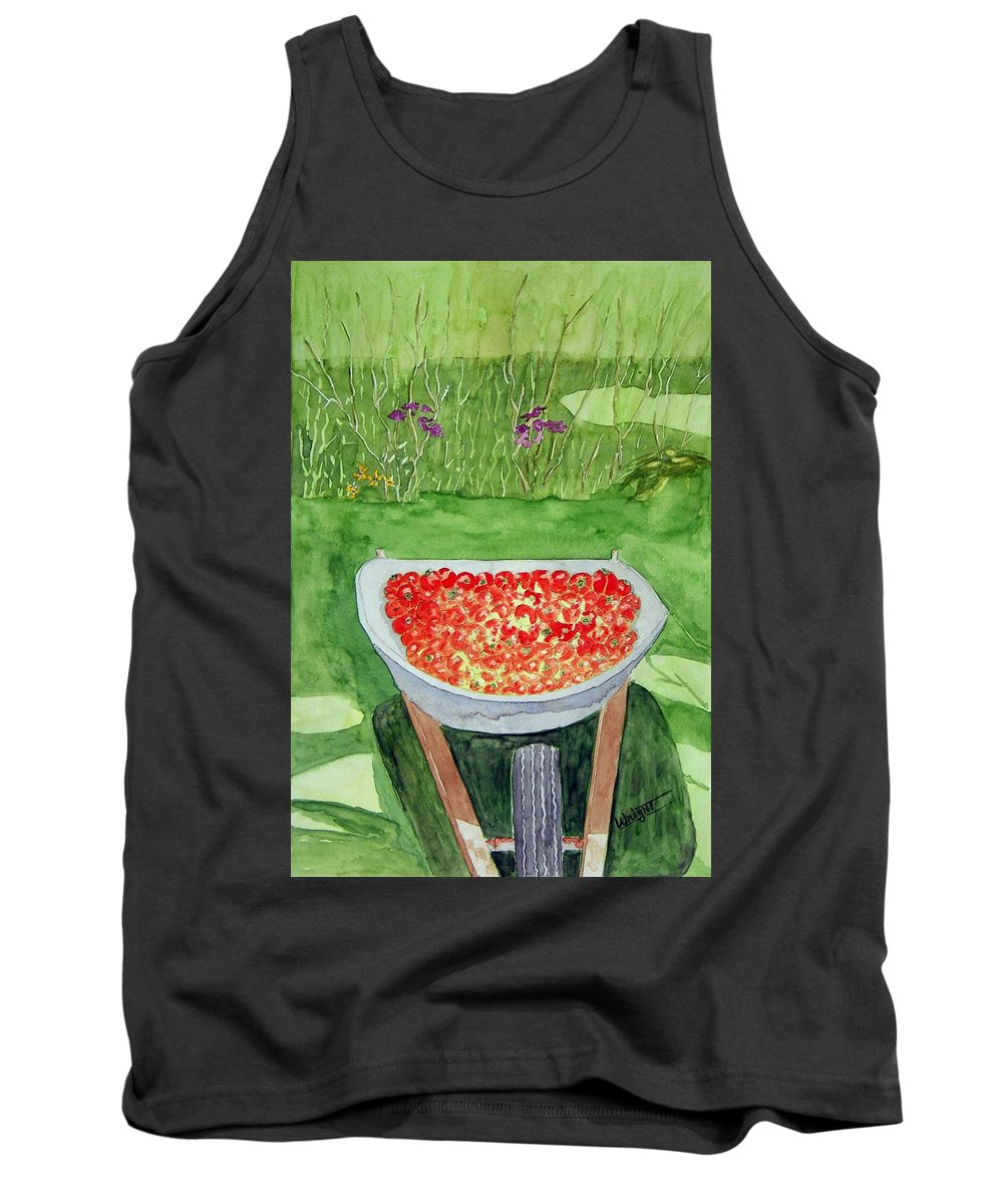 Rural Paintings Tank Top featuring the painting Summer Bounty by Larry Wright