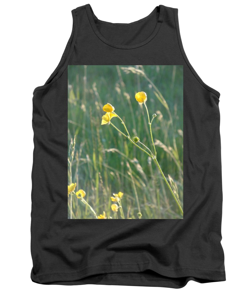 Flowers Tank Top featuring the photograph Summer Buttercups by Susan Baker