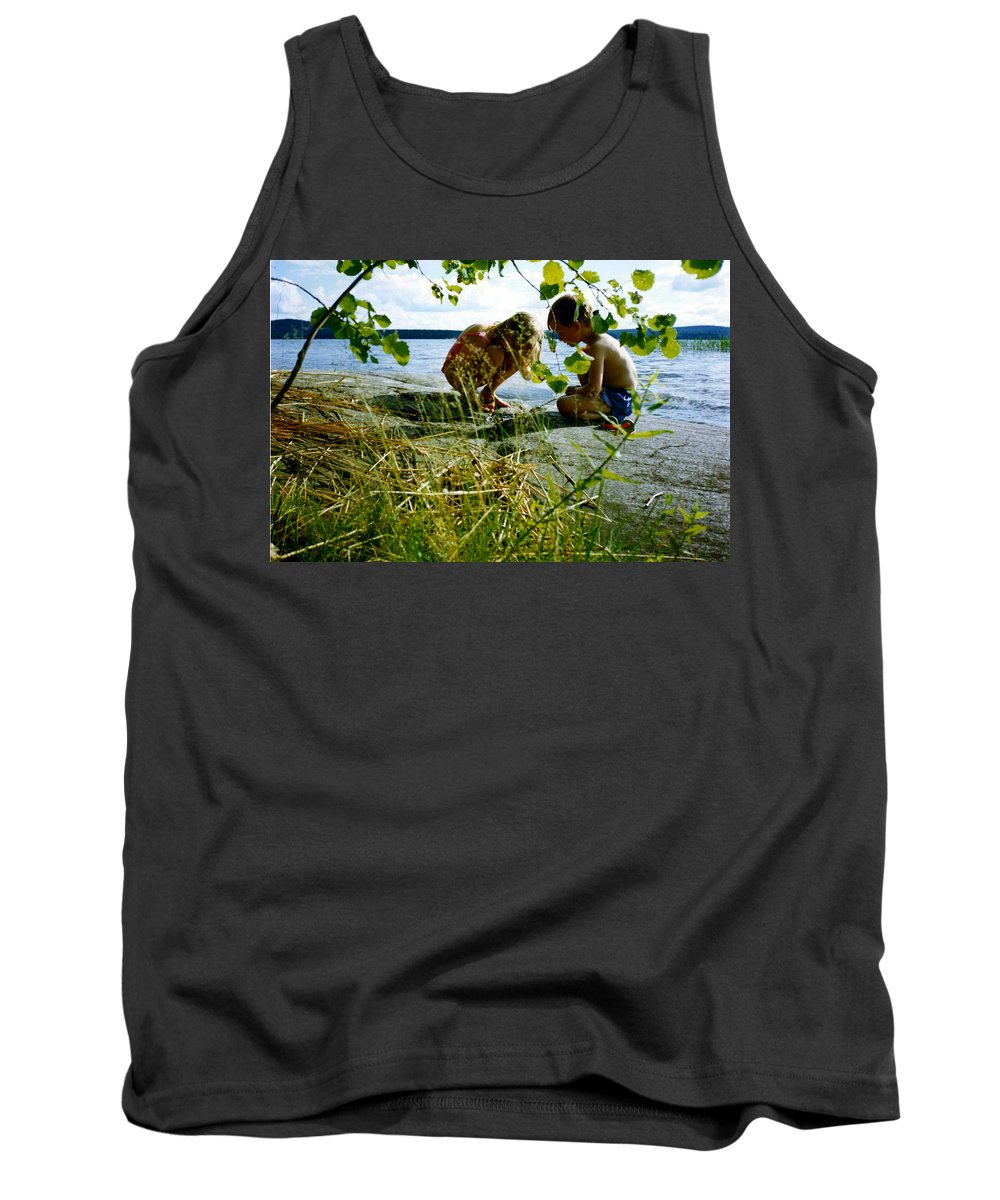 Kids Tank Top featuring the photograph Summer Fun In Finland by Merja Waters