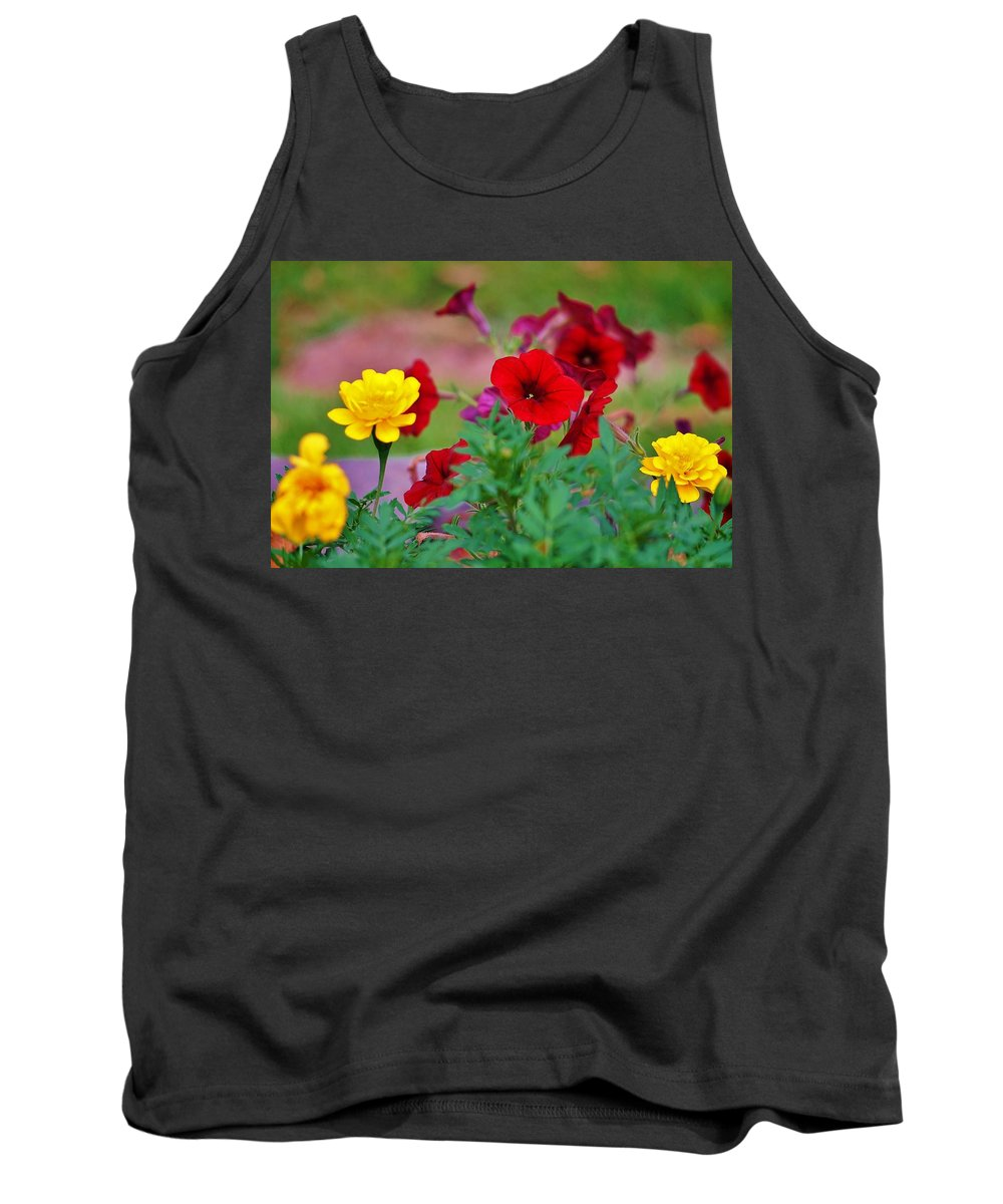 Flowers Tank Top featuring the photograph Summer Garden by Beth Deitrick