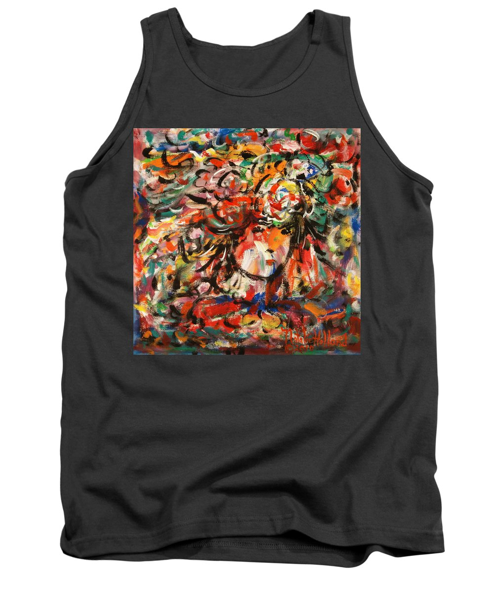 Art Around The World Project Tank Top featuring the painting Summer Girl by Natalie Holland