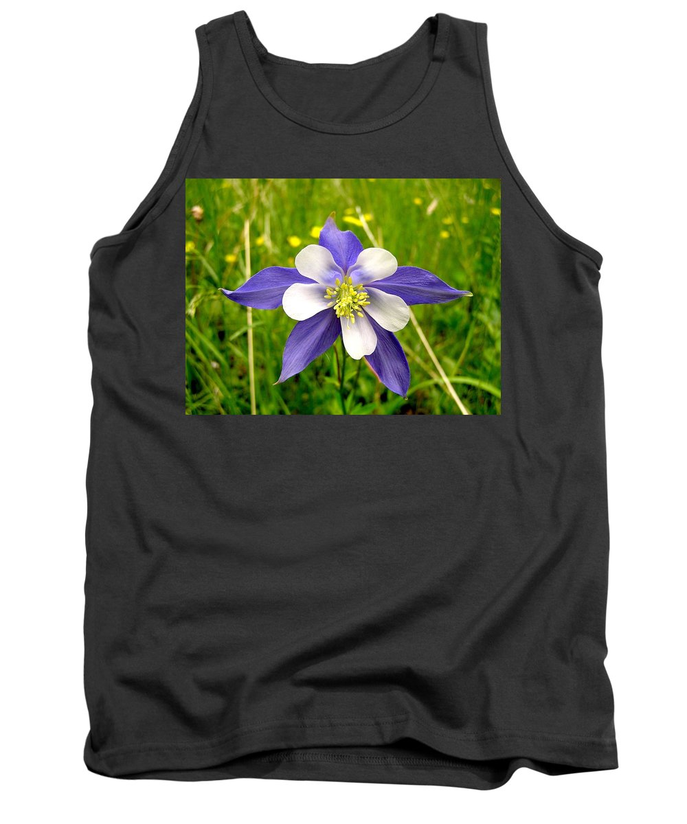 Plant Tank Top featuring the photograph Summer In The Rockies by Carol Milisen