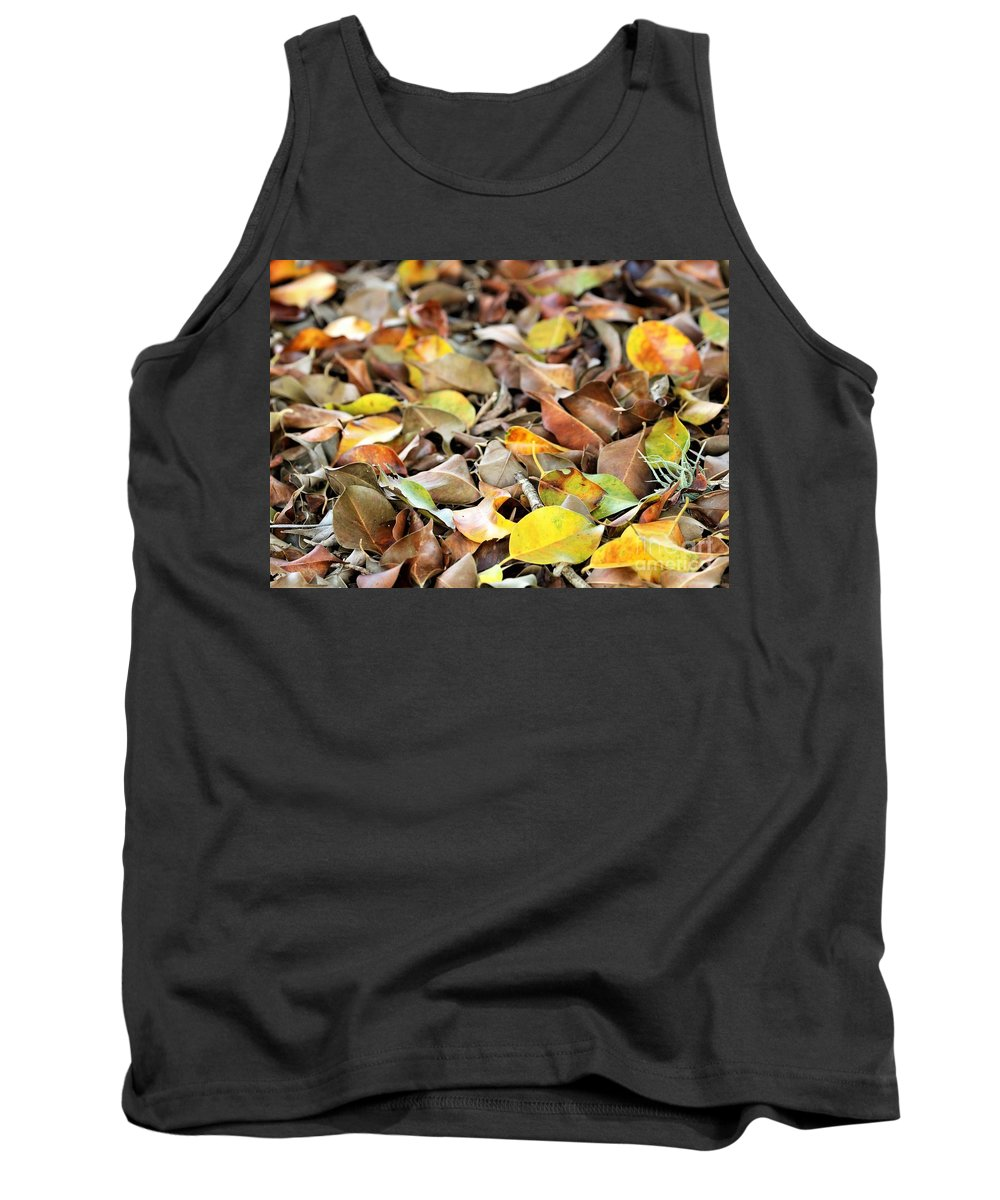 Florida Tank Top featuring the photograph Summer Leaves For Fall by Diann Fisher