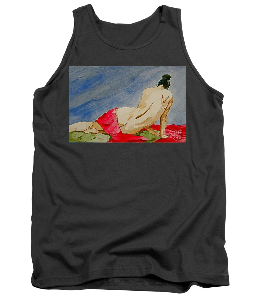 Nudes Red Cloth Tank Top featuring the painting Summer Morning 2 by Herschel Fall