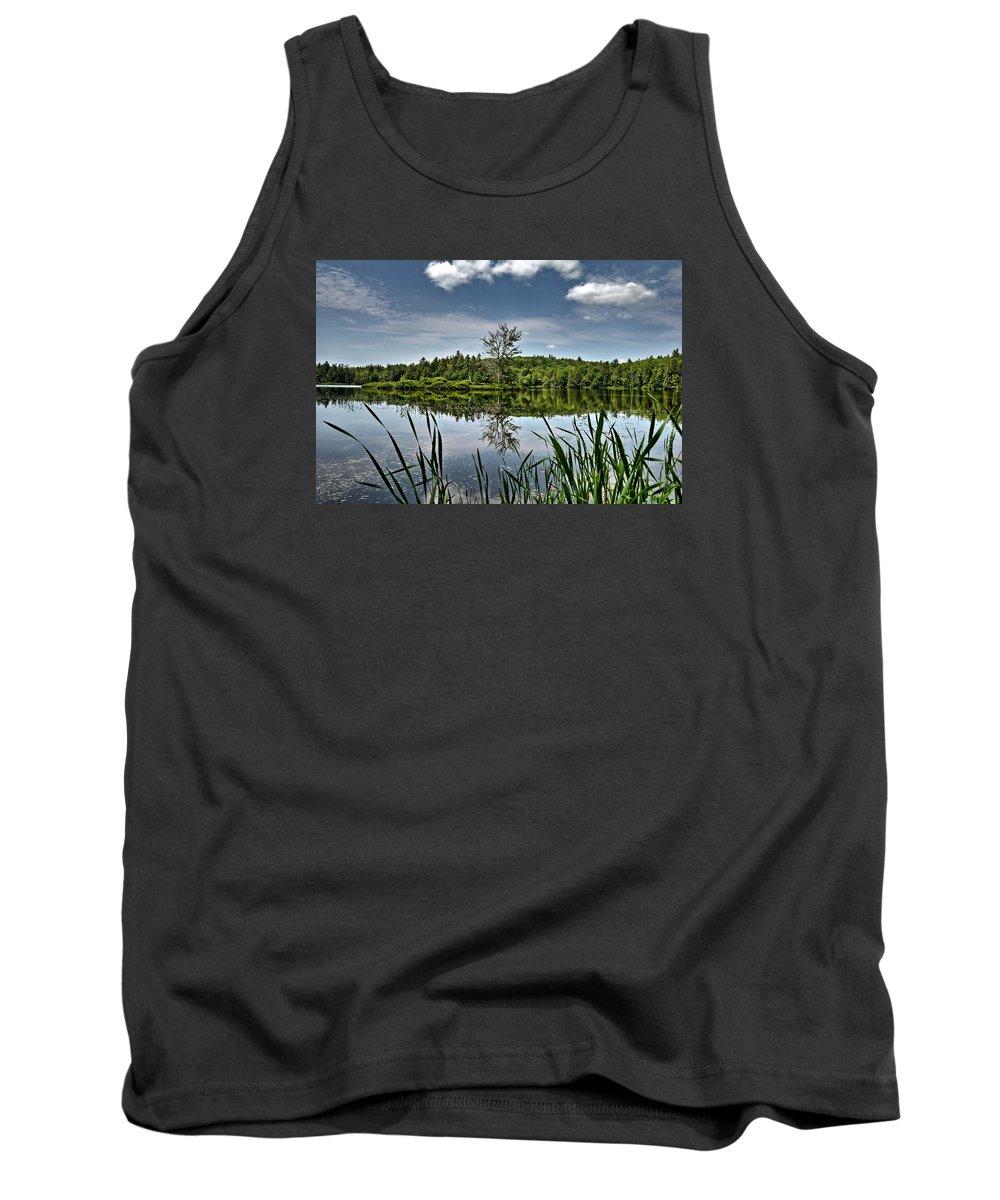 Waukeena Lake Tank Top featuring the photograph Summer On Waukeena Lake by Naturally NH