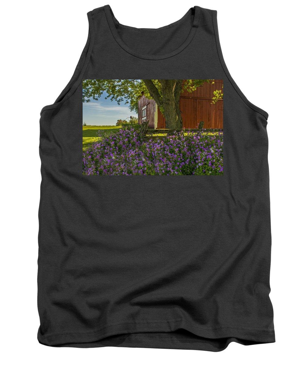 Dusk Tank Top featuring the photograph Summer Phlox by Jim Bembinster