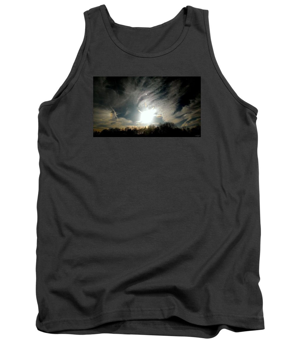 Sunset Tank Top featuring the photograph Sun Dog And Sunshine by Amber Taylor