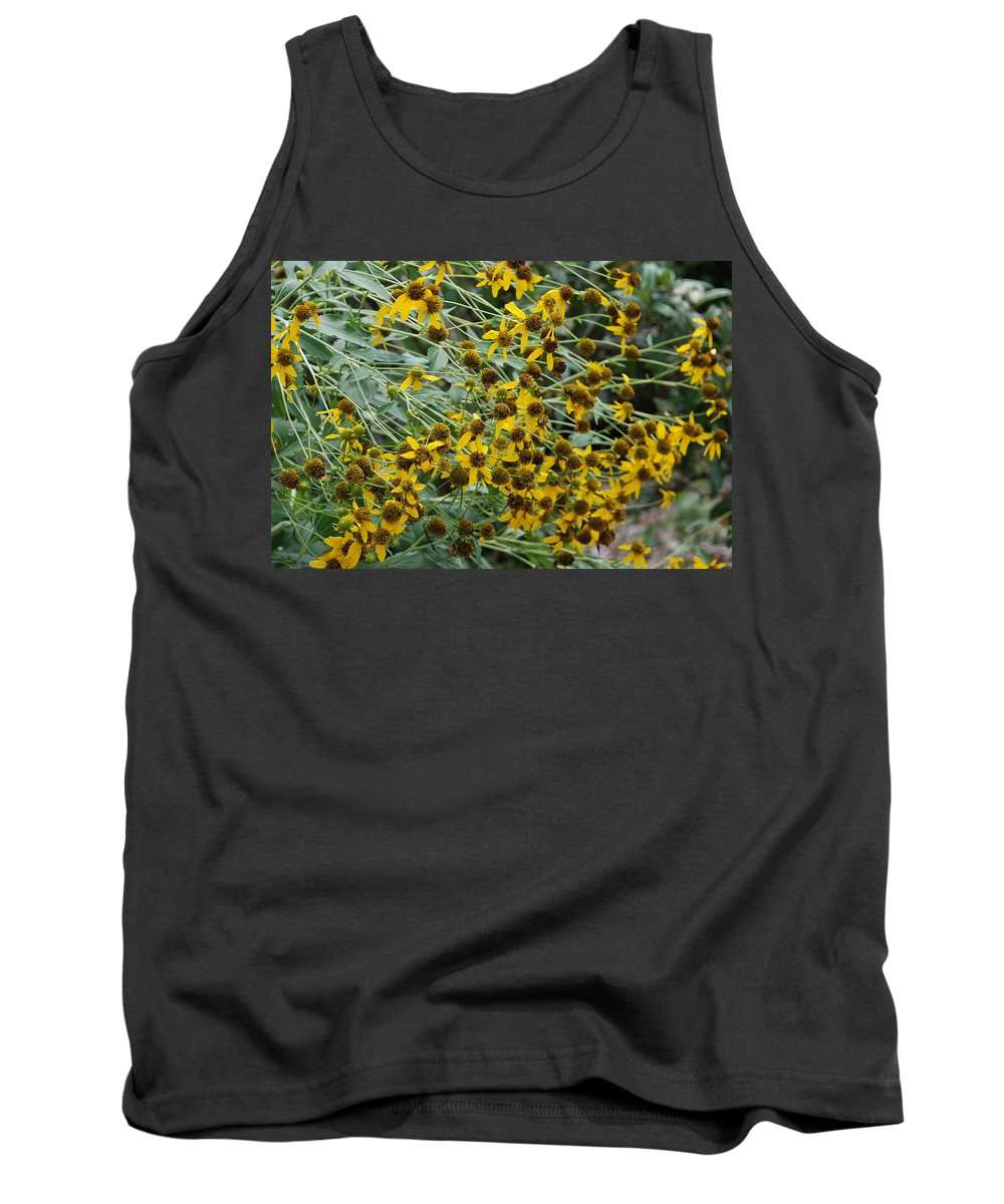 Macro Tank Top featuring the photograph Sun Flowers by Rob Hans