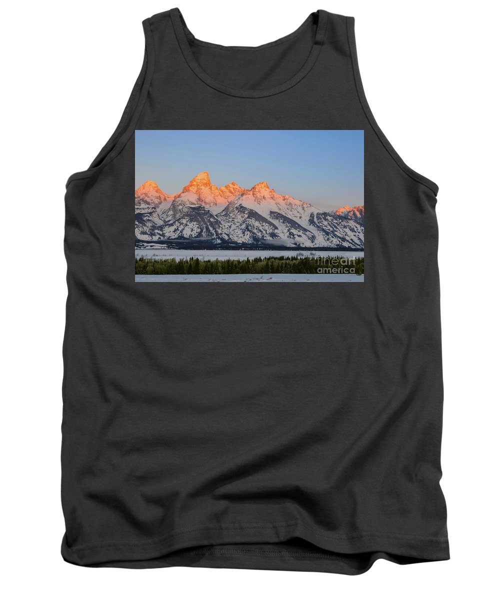Grand Teton National Park Tank Top featuring the photograph Sun Kissed by Bob Phillips