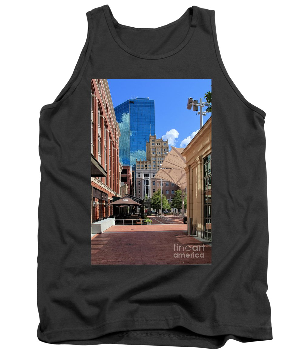Urban Tank Top featuring the photograph Sundance Square 5484mx by Earl Johnson