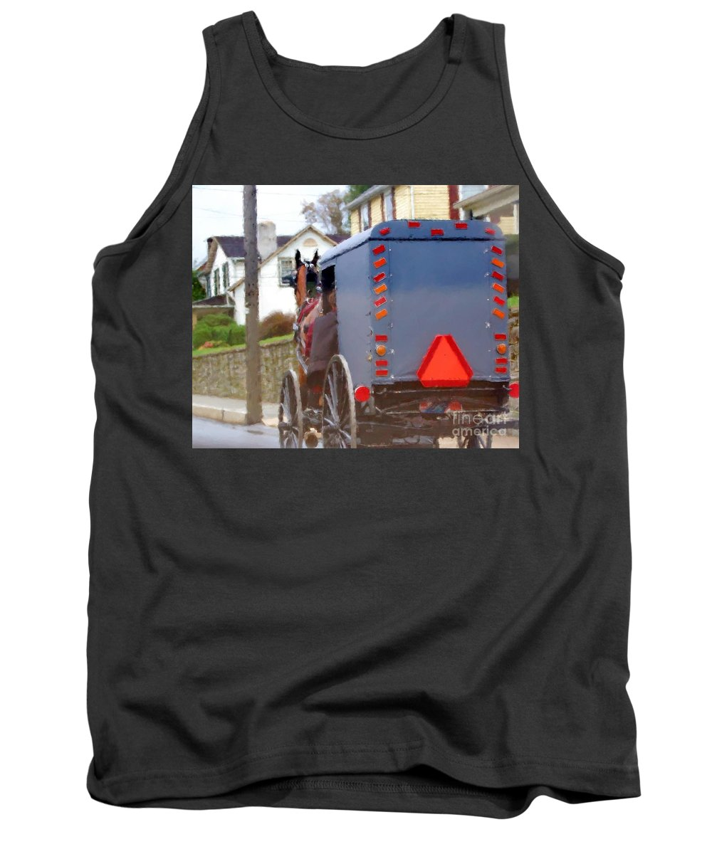 Amish Tank Top featuring the photograph Sunday Courting by Debbi Granruth