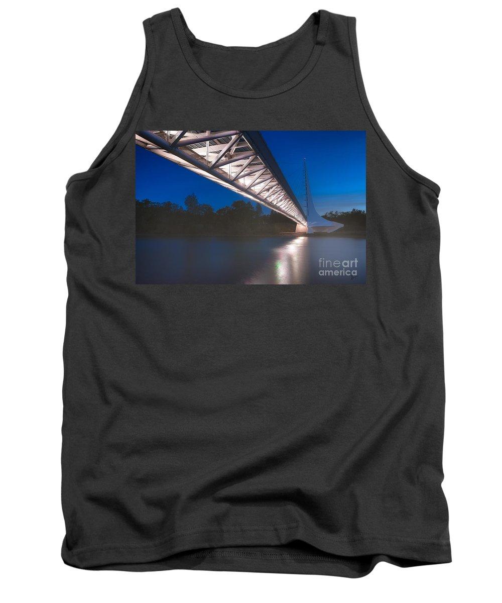 Sundial Bridge Tank Top featuring the photograph Sundial Bridge 4 by Anthony Bonafede