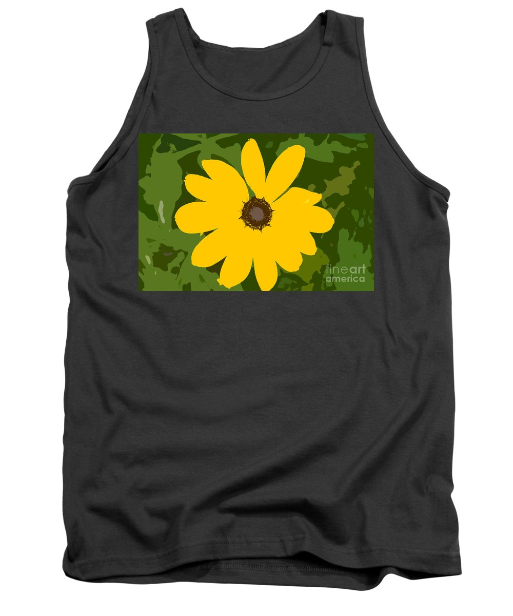 Sunflower Tank Top featuring the photograph Sunflower Work Number 3 by David Lee Thompson