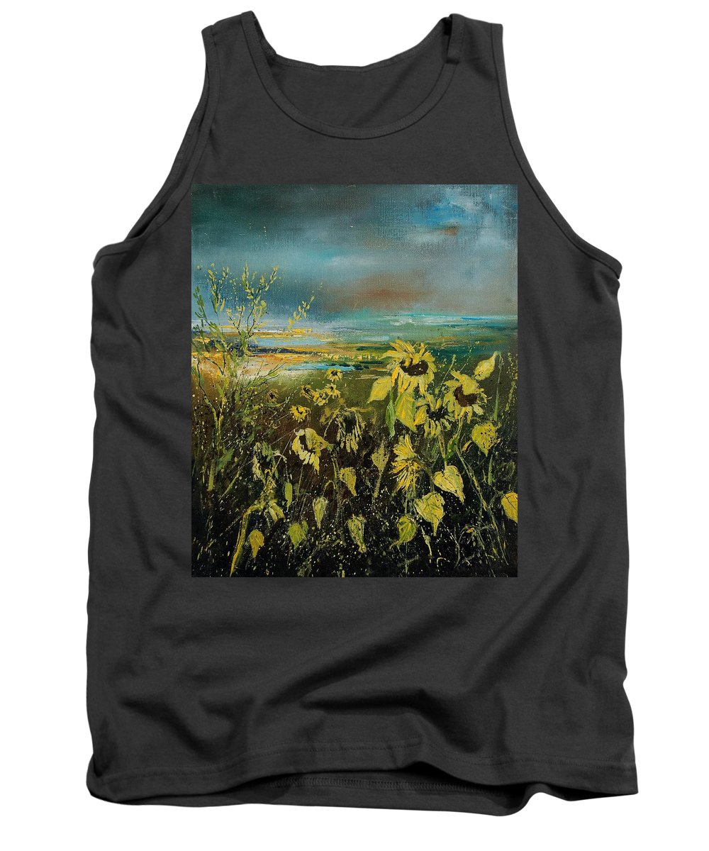 Flowers Tank Top featuring the painting Sunflowers 562315 by Pol Ledent