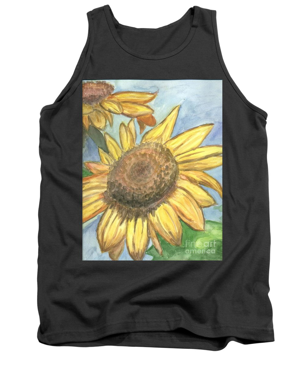 Daisy Tank Top featuring the painting Sunflowers by Jacqueline Athmann