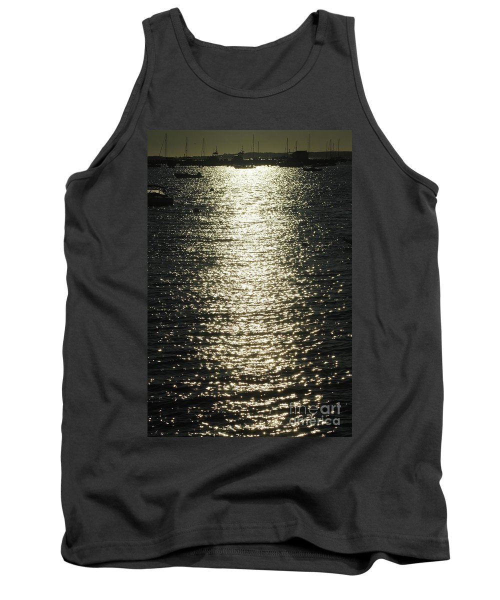 Waterscape Tank Top featuring the photograph Sunlight On The Water by Gregory E Dean