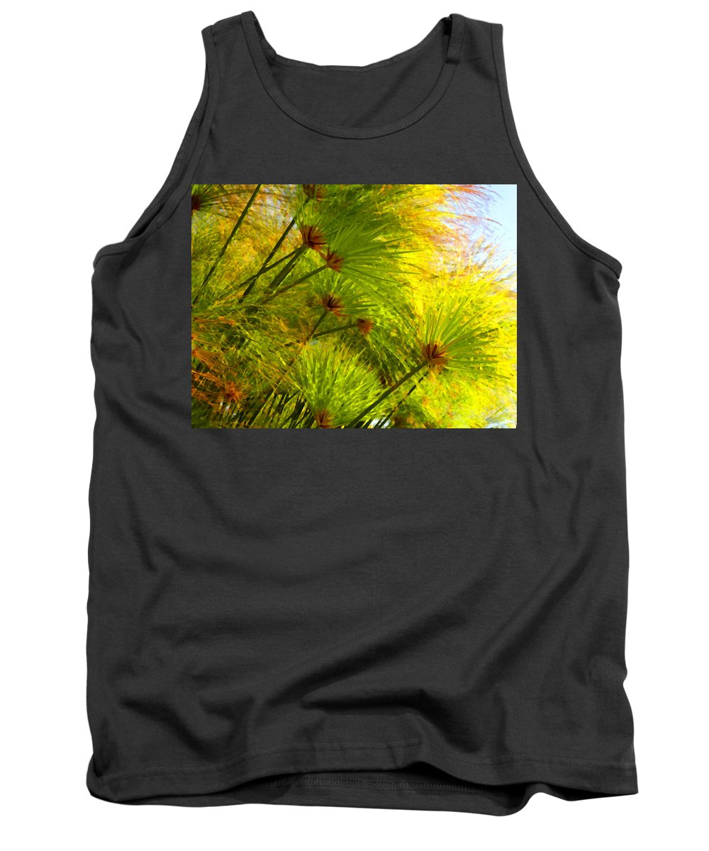 Landscape Tank Top featuring the painting Sunlit Paparus by Amy Vangsgard