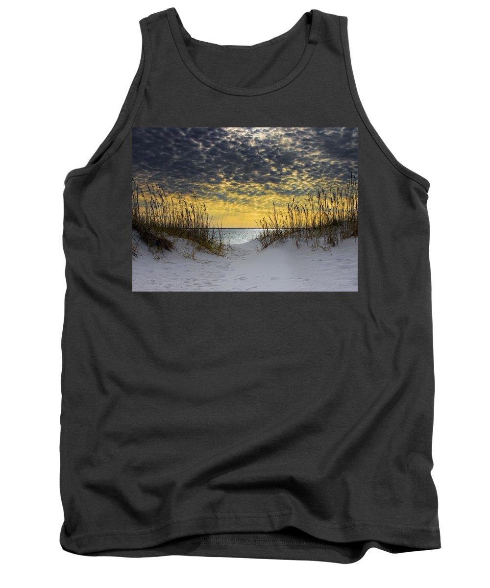 Coast Tank Top featuring the photograph Sunlit Passage by Janet Fikar