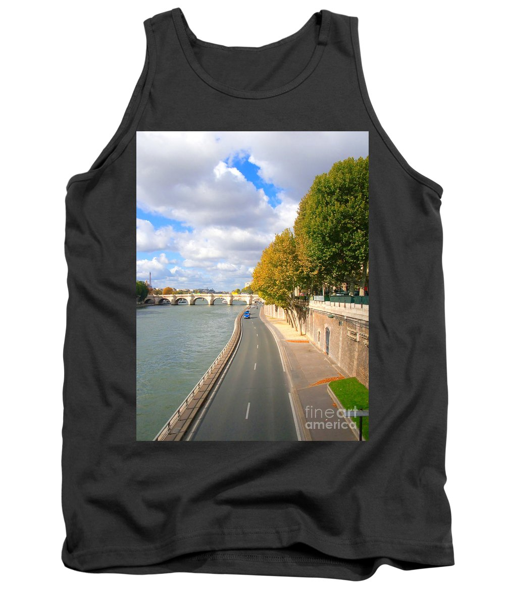 Paris Tank Top featuring the photograph Sunny Day In Paris by Charuhas Images