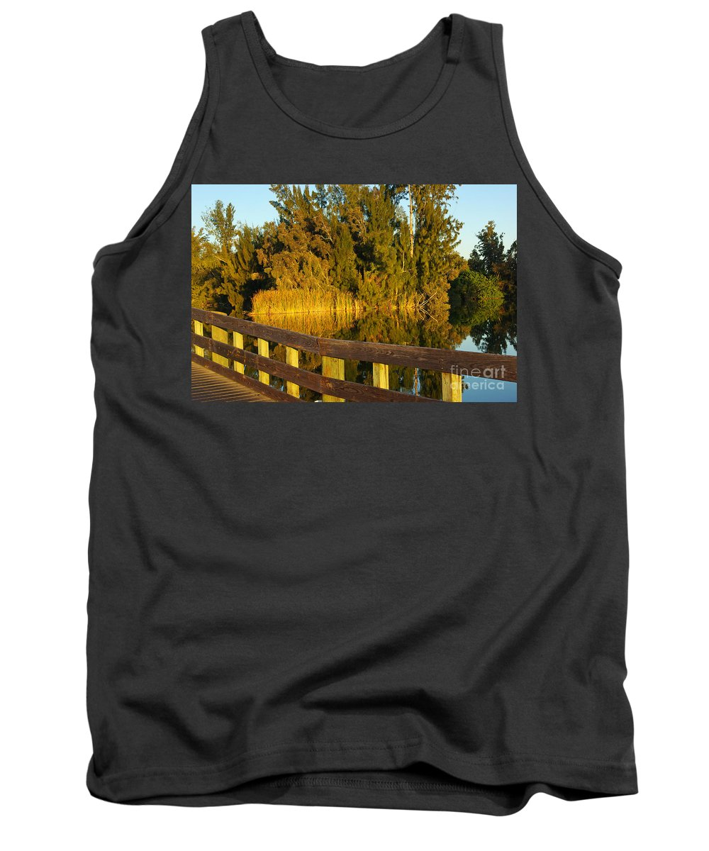 Lake Tank Top featuring the photograph Sunrise At A Lake by Zal Latzkovich