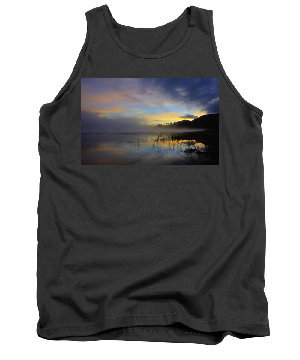 Connery Pond Tank Top featuring the photograph Sunrise At Connery Pond 3 by Tony Beaver