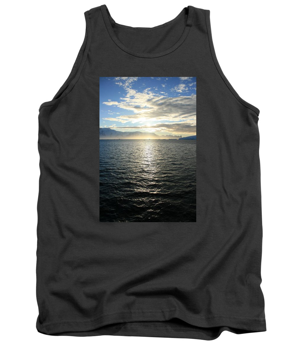 Antarctica Tank Top featuring the photograph Sunrise In Antarctica by Andrew Parker