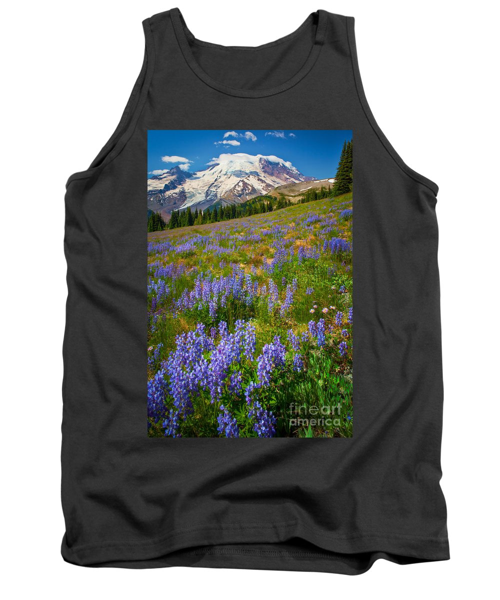 America Tank Top featuring the photograph Sunrise Meadow by Inge Johnsson
