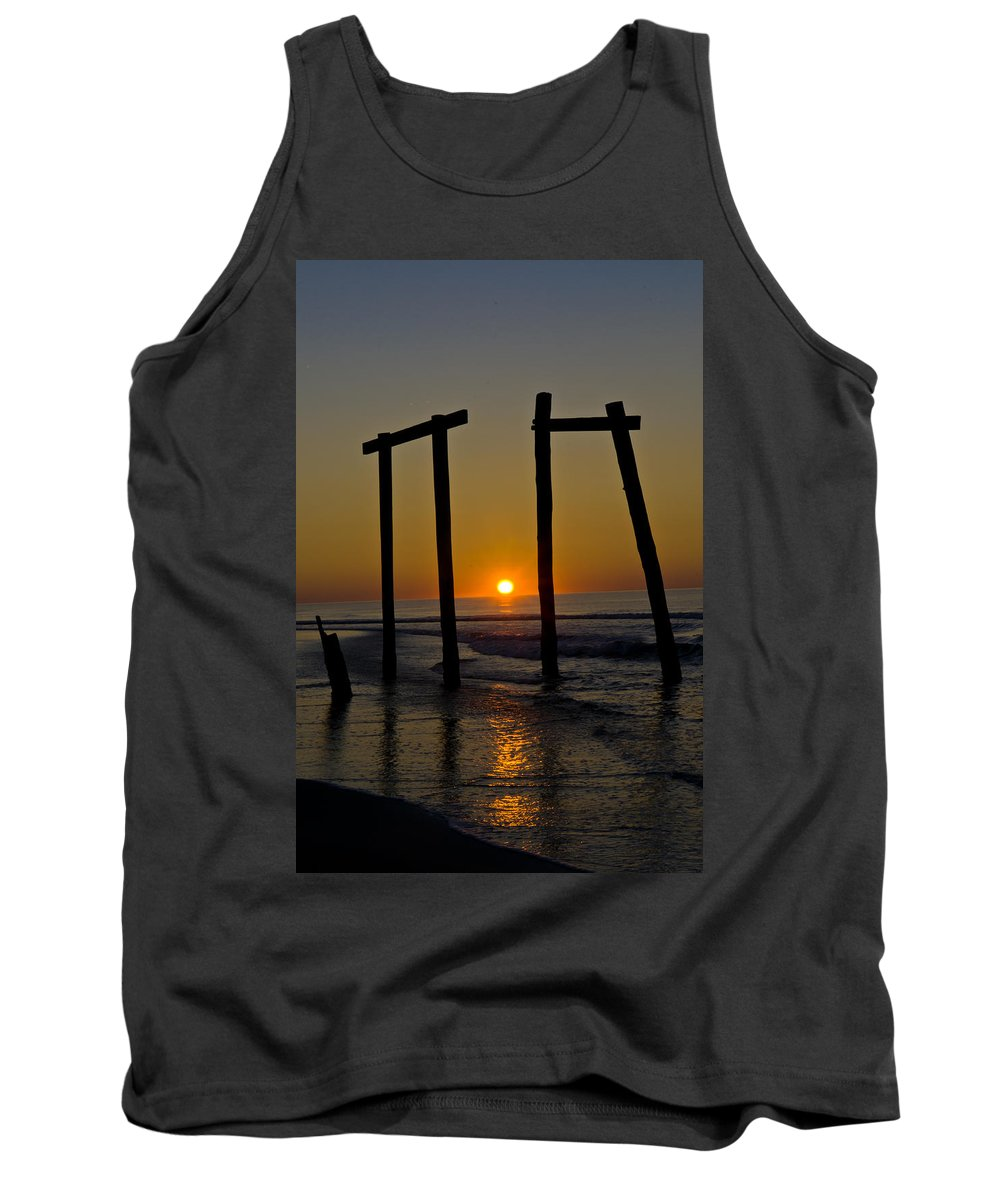 Landscape Tank Top featuring the photograph Sunrise At Ocean City by Louis Dallara