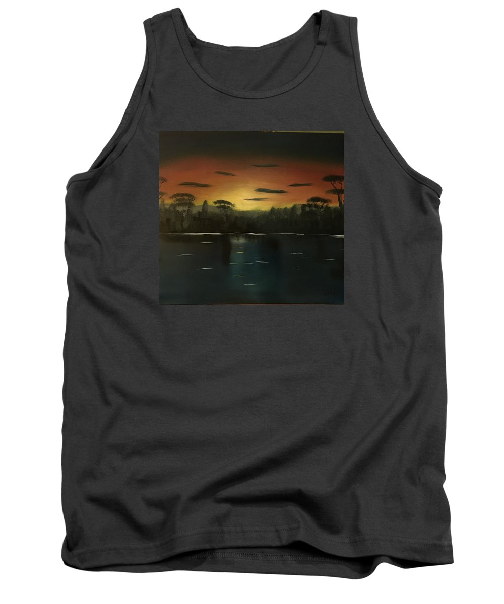 Africa Tank Top featuring the painting Sunrise On The Nile by Richard Knight