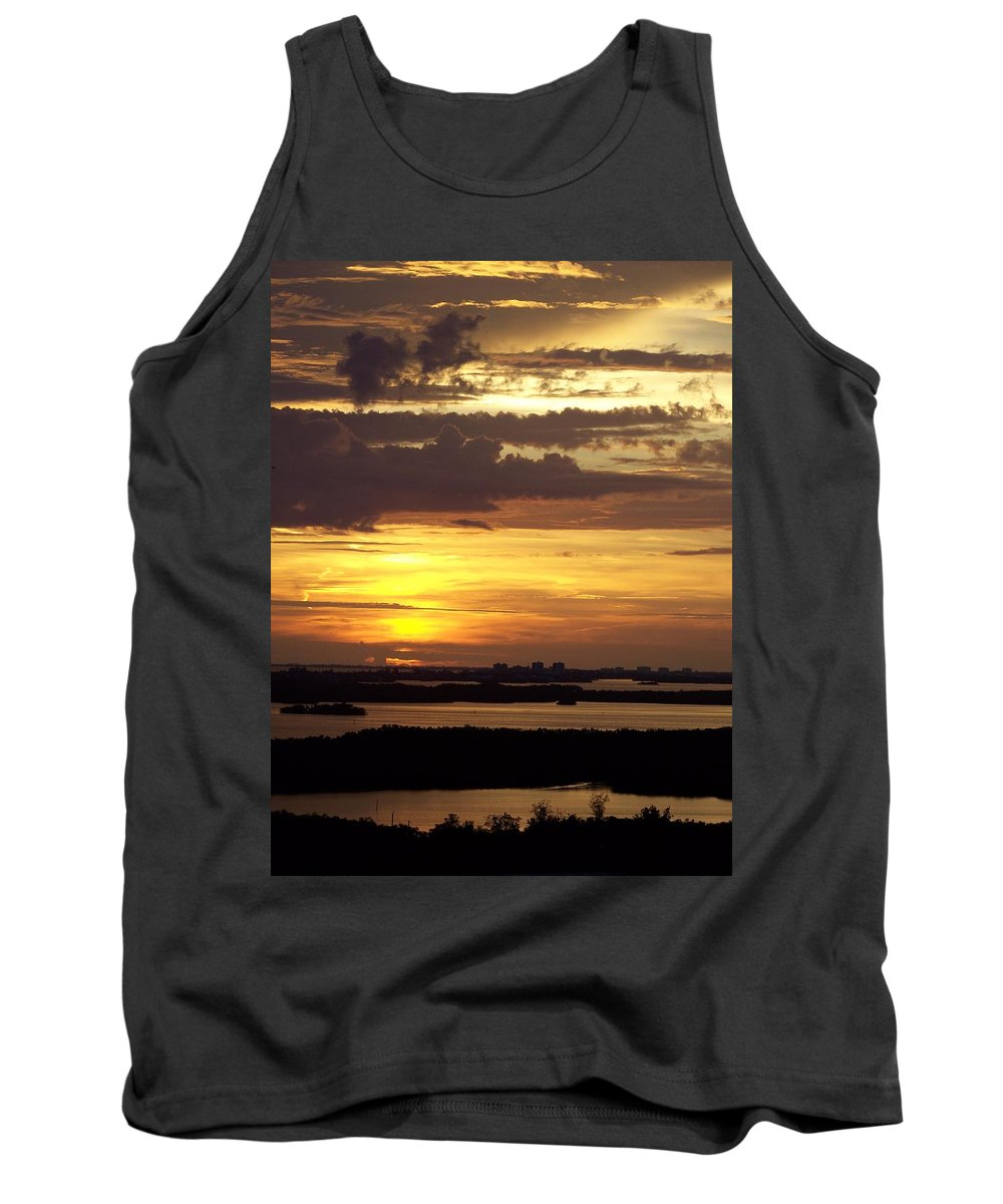 Sunset Tank Top featuring the photograph Sunset 0001 by Laurie Paci