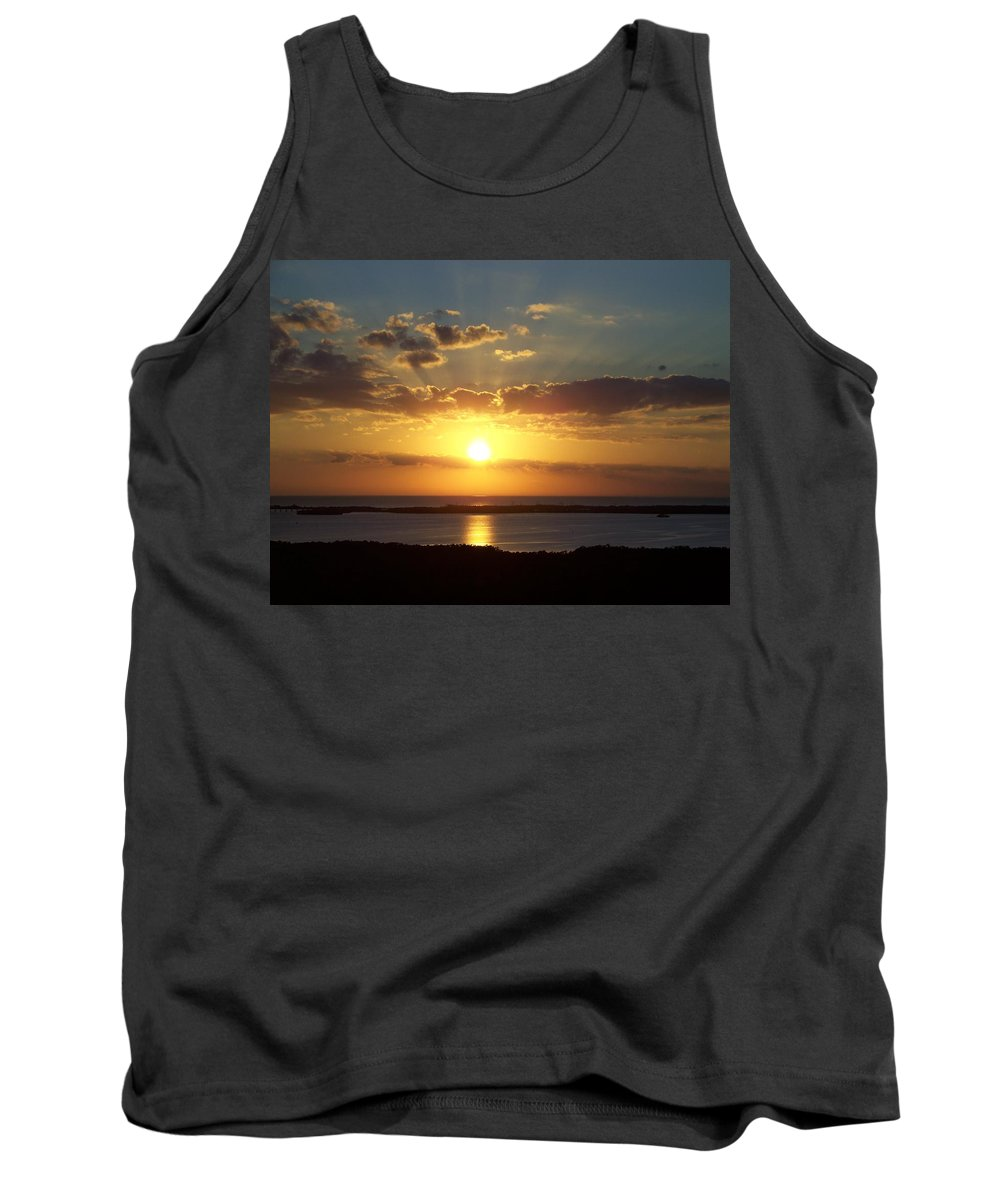 Sunset Tank Top featuring the photograph Sunset 0012 by Laurie Paci