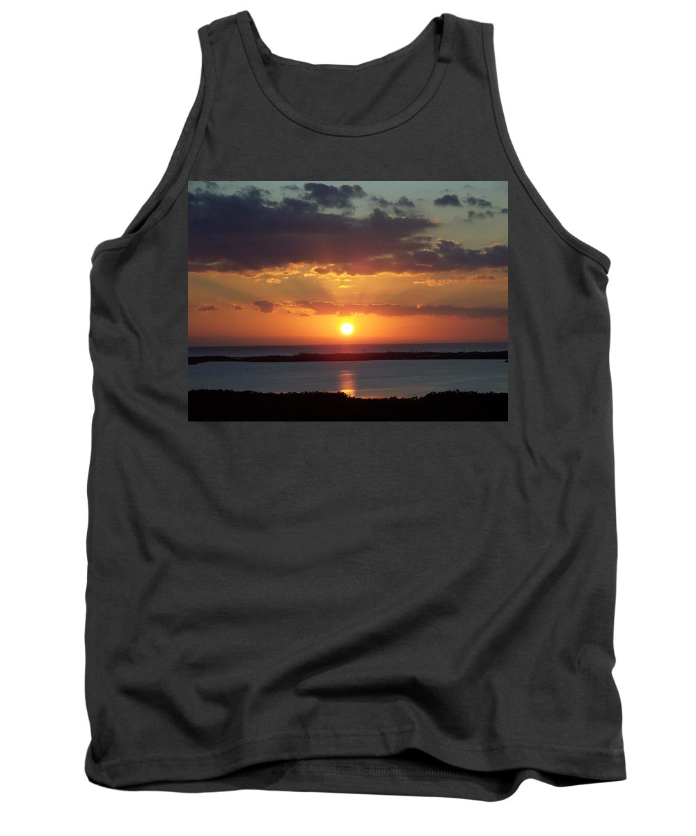 Sunset Tank Top featuring the photograph Sunset 0013 by Laurie Paci