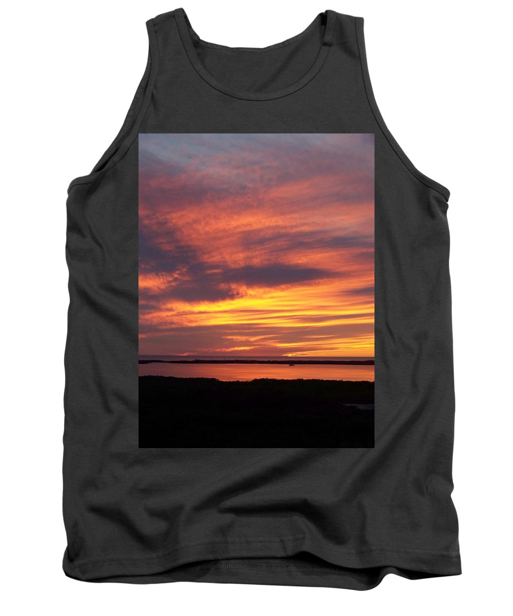 Sunset Tank Top featuring the photograph Sunset 0037 by Laurie Paci