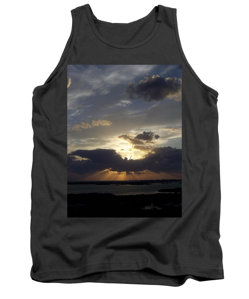 Sunset Tank Top featuring the photograph Sunset 0044 by Laurie Paci
