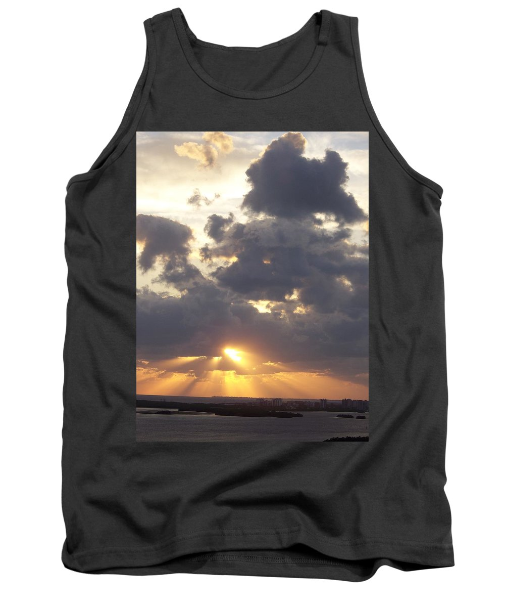 Sunset Tank Top featuring the photograph Sunset 0045 by Laurie Paci