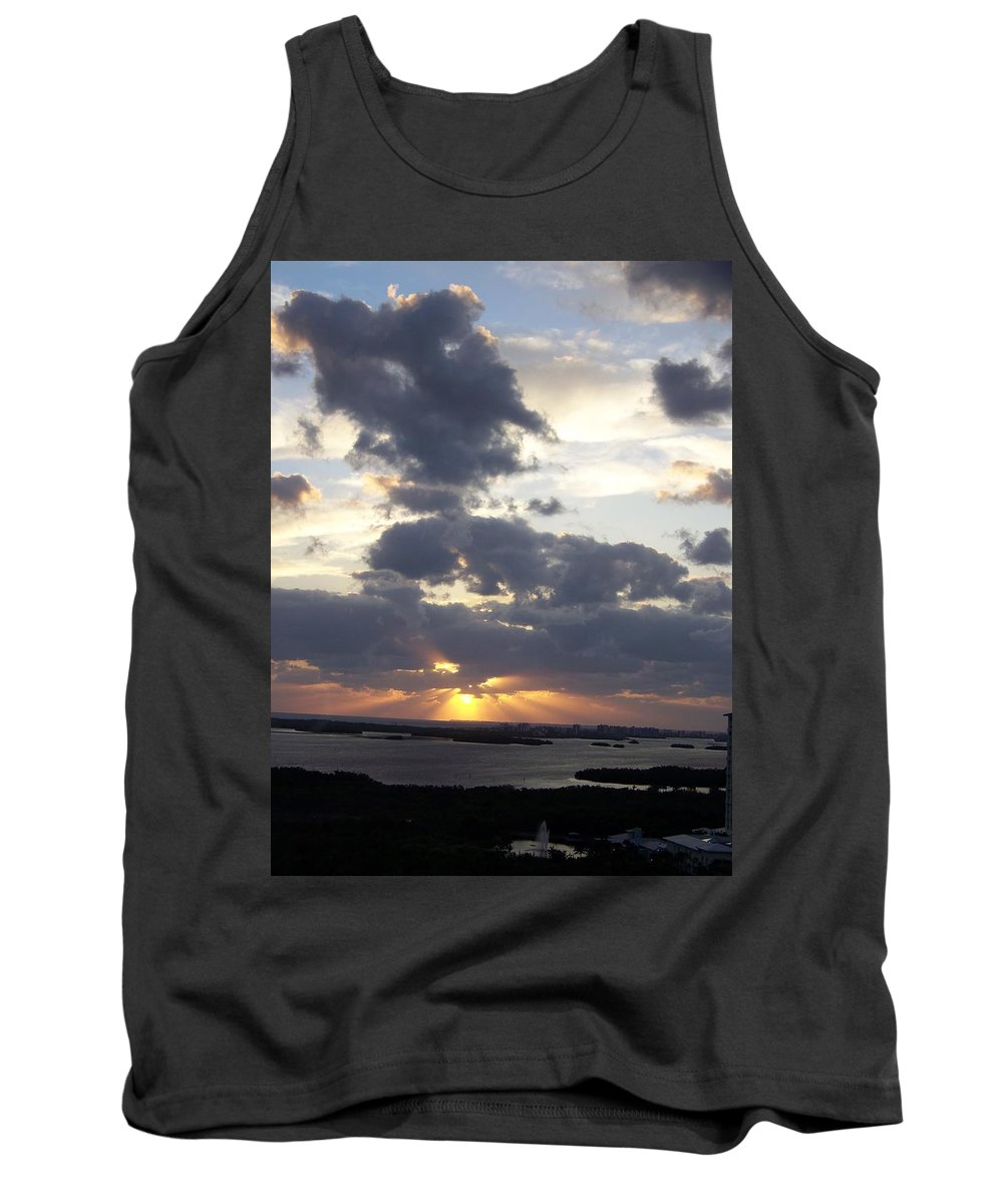 Sunset Tank Top featuring the photograph Sunset 0046 by Laurie Paci