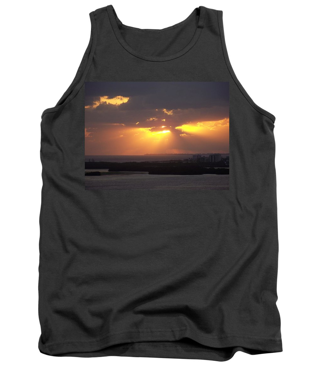 Sunset Tank Top featuring the photograph Sunset 0047 by Laurie Paci
