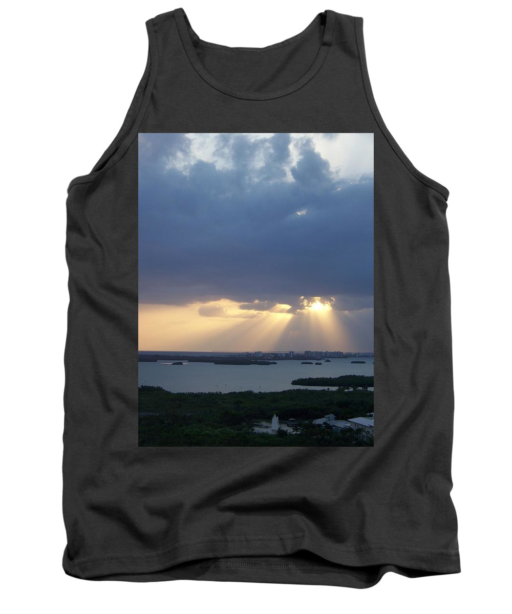 Sunset Tank Top featuring the photograph Sunset 0048 by Laurie Paci